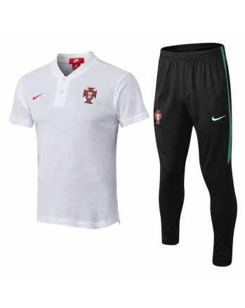 Portugal White Training Polo Suit 2019-20