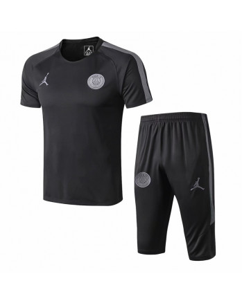 PSG Black Training Jersey And Shorts 2019-20