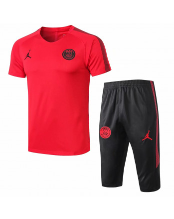PSG Red Training Jersey And Shorts 2019-20
