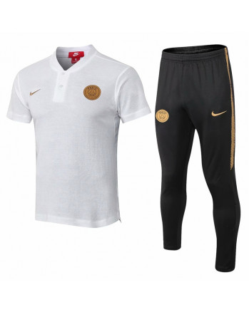 PSG White Training Polo Suit 2019-20