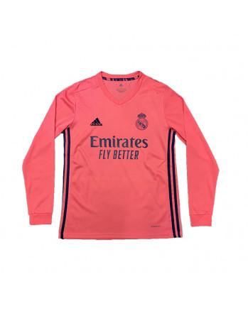 Real Madrid Away Long Sleeve Soccer Jersey 2020-21