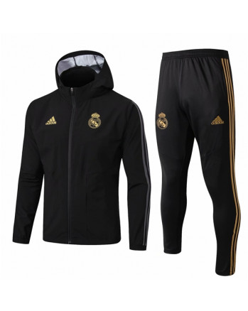 Real Madrid Black Training Tracksuit 2019-20