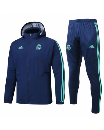 Real Madrid Blue Training Tracksuit 2019-20