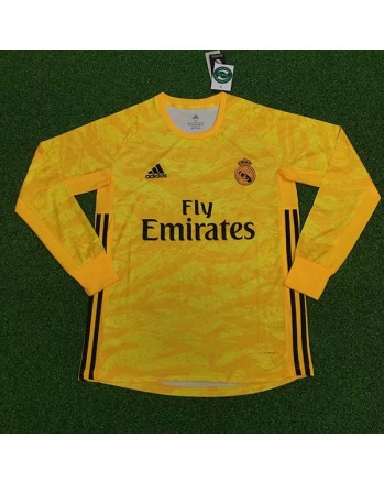 Real Madrid Home Goalkeeper Long Sleeve Soccer Jersey 2019-20
