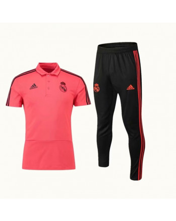 Real Madrid Red Training Polo Suit 2019-20