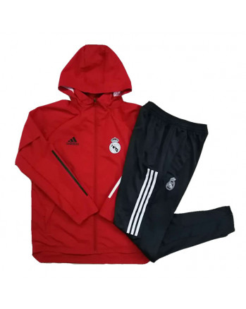 Real Madrid Red Training Tracksuit 2020-21