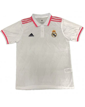 Real Madrid White Polo Training Shirt 2020-21