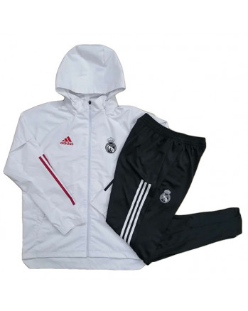 Real Madrid White Training Tracksuit 2020-21