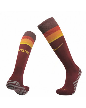 Roma Home Soccer Socks 2020-21