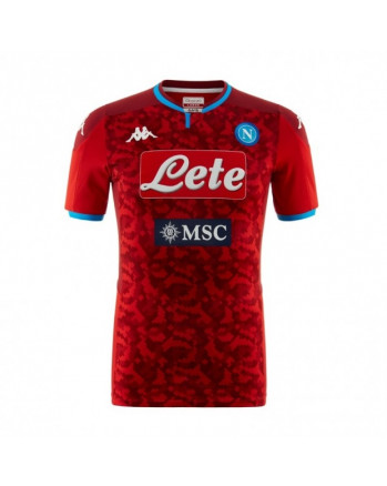SSC Napoli Goalkeeper Red Soccer Jersey 2019-20